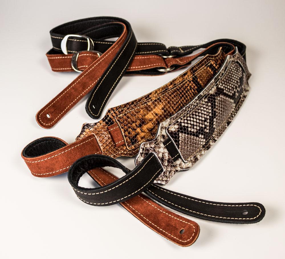 vintage snakeskin ball glove guitar strap franklin strap. Black Bedroom Furniture Sets. Home Design Ideas