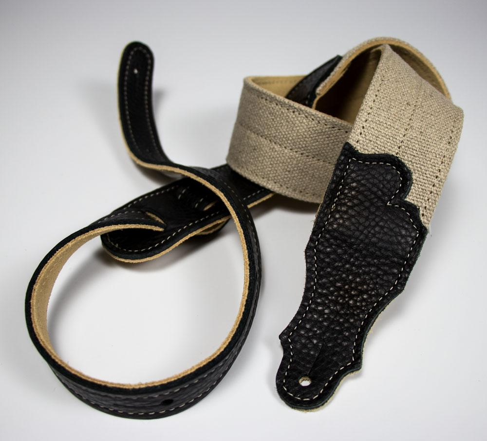 Hemp 2-Fold with Suede Backing and Leather Ends Franklin Strap