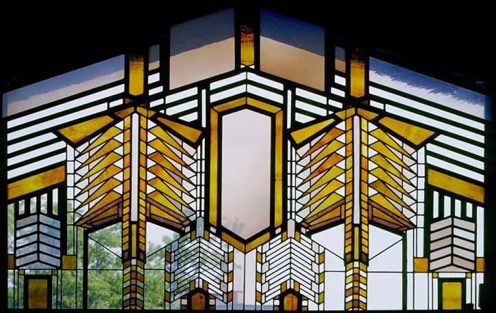 Faux Stained Glass Dana-Thomas Susan Lawrence Dana House Frank Lloyd Wright Prairie Style Architecture Window