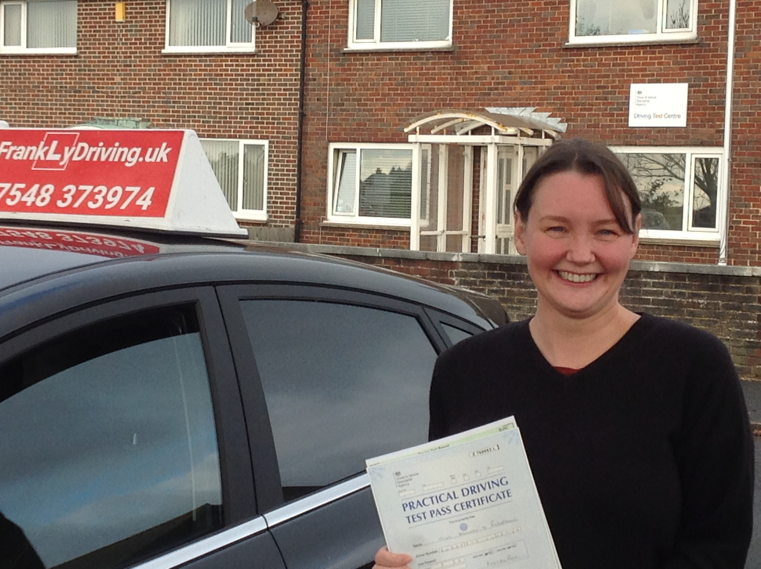 Hannah passes Practical Driving Test with FrankLyDriving on first attempt