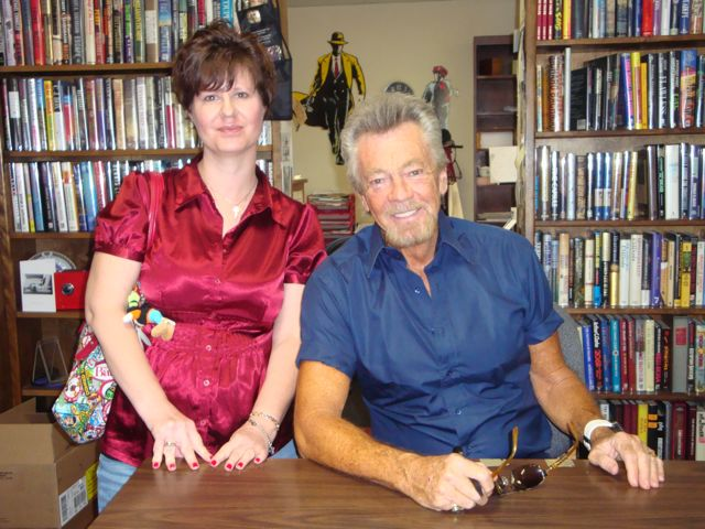 Stephen J Cannell and me at his Book signing for The Pallbearer. March, 2010.