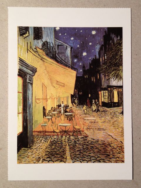Postcard of Van Gogh's Terrace of the Cafe at Night