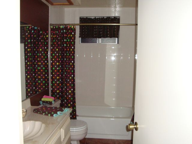 Polka Dot and Beach Themed Bathroom