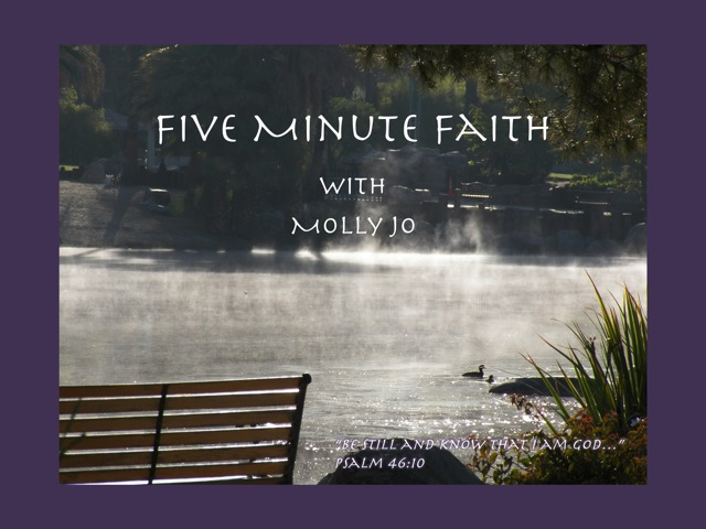 Cover Art for Five Minute Faith podcast by Molly Jo