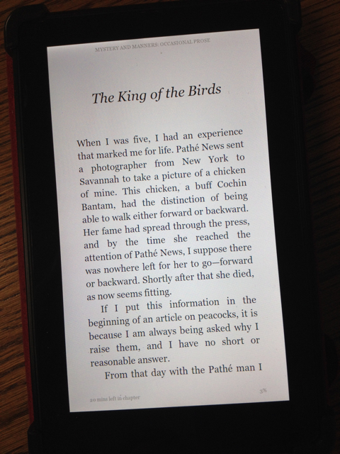 Mystery and Manners: The King of the Birds (Flannery O'Connor)