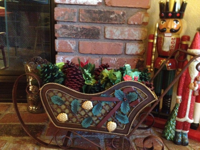 Pine Cones in a Sleigh