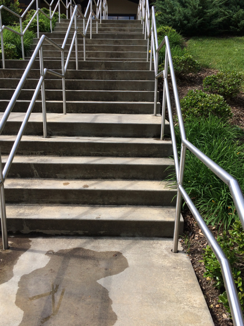 These stairs are the reason I'm losing weight and walking funny. They are my necessary nemesis.