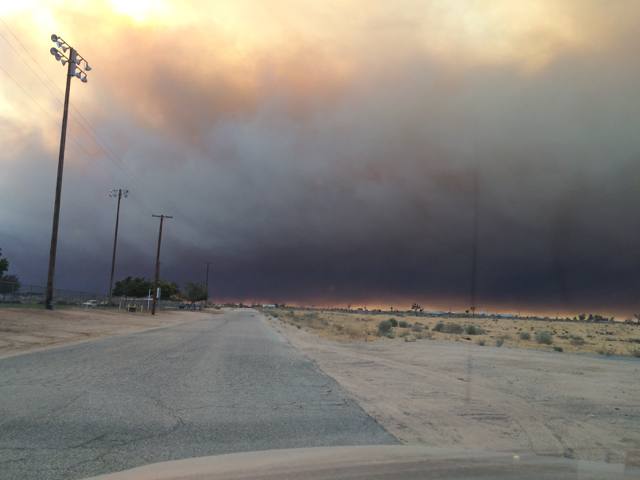 Blue Cut Fire, Day 1. Hesperia, CA.
