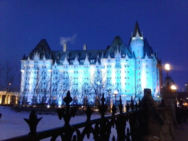 Chateau Laurier in winter