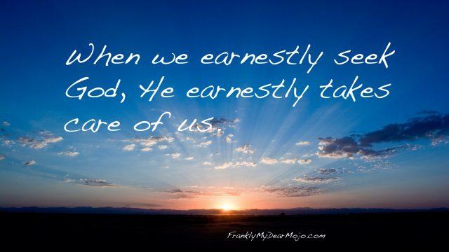 Frankly, On Faith: Earnestly Seeking God