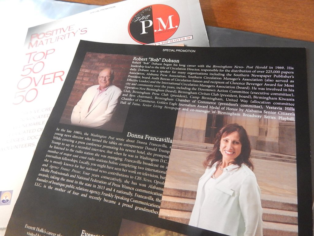 "Donna Francavilla named 2015 Positive Maturity's ""Top 50 Over 50,"""