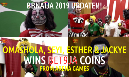 Housemates Omashola WINS 400 Bet9ja coins from Arena Games