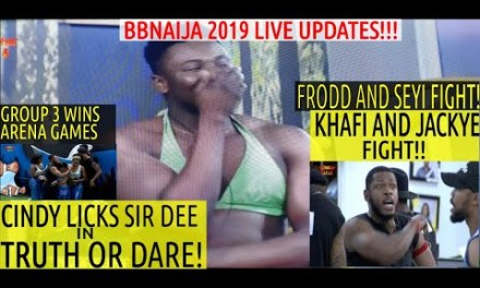 BBNaija 2019 LIVE UPDATES | CINDY LICK UP SIR DEE IN TRUTH OR DARE GAME | GROUP 3 WINS ARENA GAMES
