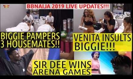 VENITA INSULTS BIGGIE | BIGGIE PAMPERS KHAFI, MERCY AND CINDY | SIR DEE | BBNaija 2019 LIVE UPDATES
