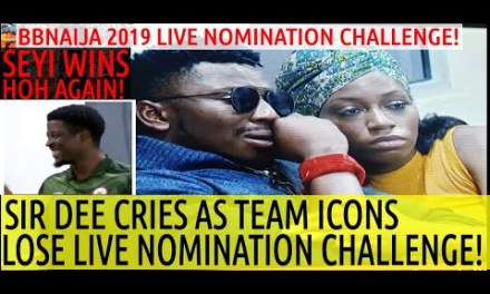 FIRST NOMINATION CHALLENGE: SEYI NEW HOH