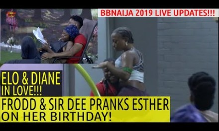 FRODD AND SIR DEE PRANK ESTHER ON HER B'DAY & DIANE AND ELO IN LOVE