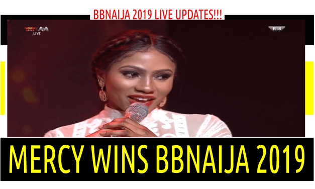 BBNaija 2019 LIVE  FINALE | MERCY WINS BBNAIJA 2019 | MIKE RUNNER UP | PEPPER DEM GANG