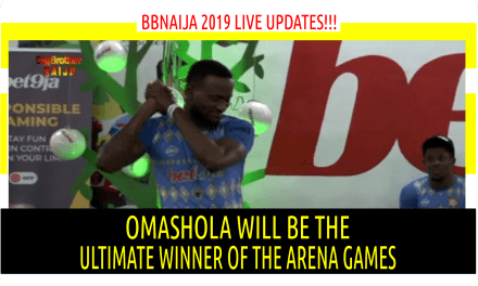 BBNaija 2019 LIVE UPDATES | OMASHOLA WILL BE THE ULTIMATE WINNER OF THE ARENA GAMES | PEPPER DEM BBN