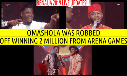OMASHOLA WAS ROBBED OFF WINNING 2 MILLION FROM ARENA GAMES