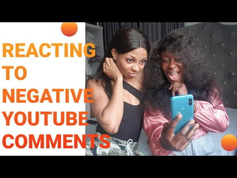 REACTING TO NEGATIVE COMMENTS FROM VIEWERS ON MY CHANNEL