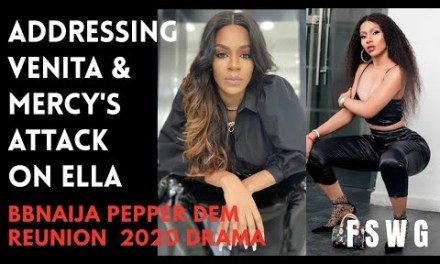 BBNAIJA REUNION 2020 | ADDRESSING VENITA AND MERCY'S ATTACK ON ELLA