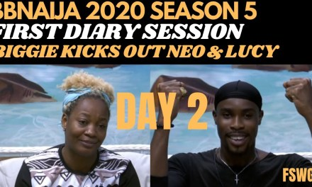 HOUSEMATES FIRST DIARY SESSION | BBNAIJA 2020 LOCKDOWN