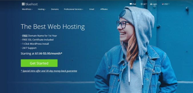 Use Bluehost For your blog