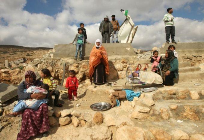 palesztin hajlektalanok izraeli hazrombolas utan frankpeti