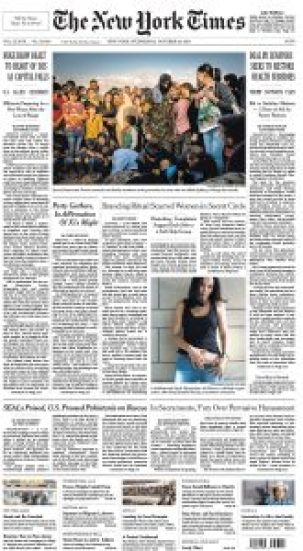 New York Times Front Cover
