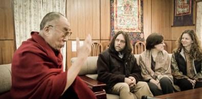 Dalai Lama with Keith Raniere, Nancy Salzman, Sara Bronfman