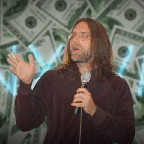 NXIVM American Greed Episode Keith Raniere With Money Backdrop