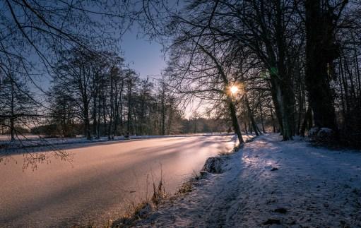 Wintersonne im Schlosspark Wiesenburg