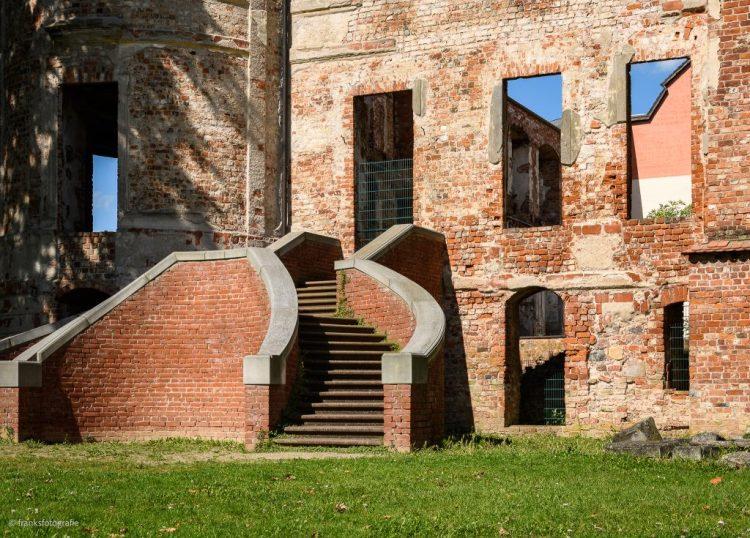 Schloss Dargun erkunden - IGA Freitreppe