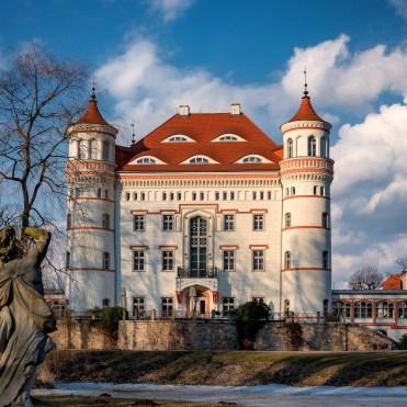 Die Parkseite von Schloss Schildau
