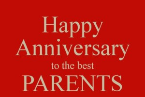 Lovely Parents Anniversary Day SMS