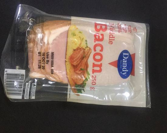 Dandy Middle Bacon 250g