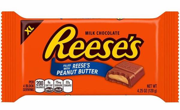 Reese's Reeses XL Extra Large Milk Chocolate Filled With Peanut Butter 120g Block