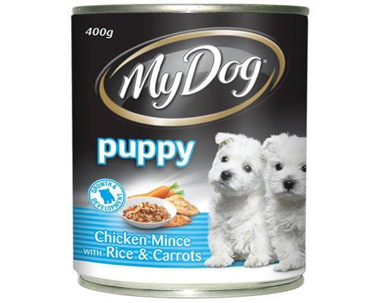MY DOG PUPPY FOOD CHICKEN MINCE WITH RICE & CARROTS