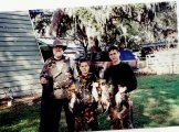Huntfam Dad&bros with ducks