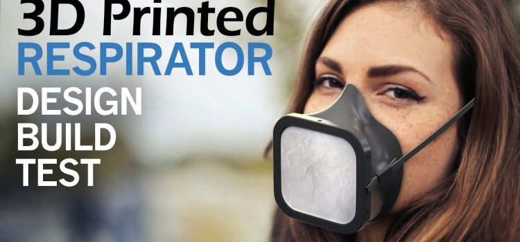 Custom 3D Printed Respirator Face Mask with Replaceable filters