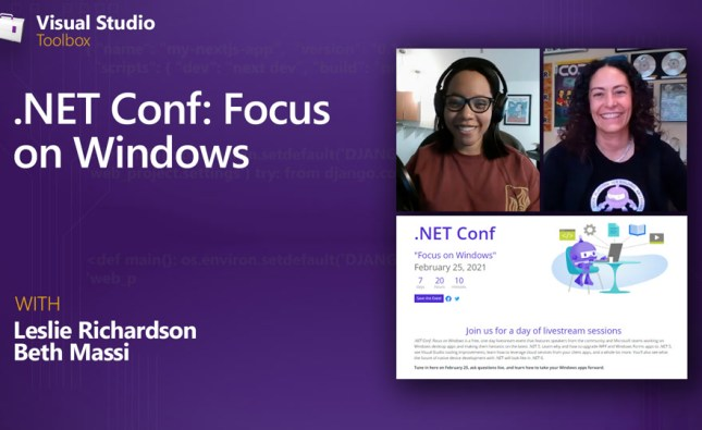 .NET Conf: Focus on Windows