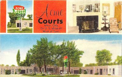 acme motel postcard