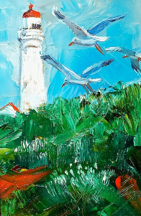 (YPK183) Into the Wind Cape Nelson 15 x 10 cm $140