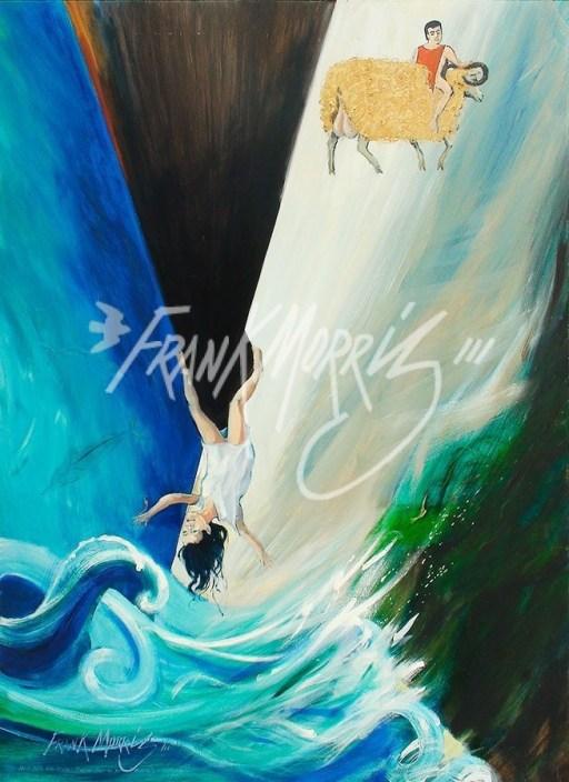 (Y605) Helle Falls into the Sea 121 x 91 cm $400