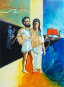 (Y610) 121 x 91 cm Jason and Æëtes' Daughter Sail Home with the Fleece $400