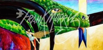 (Y657) At Last Jason Outwits the Dragon 61 x 122 cm $350