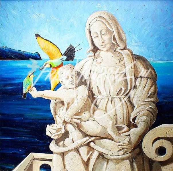 (Y575) Mother & Son 81 x 82 cm $340