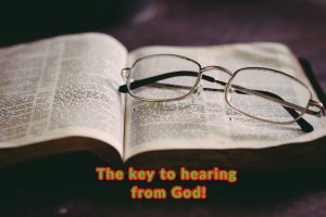 the key to hearing from God