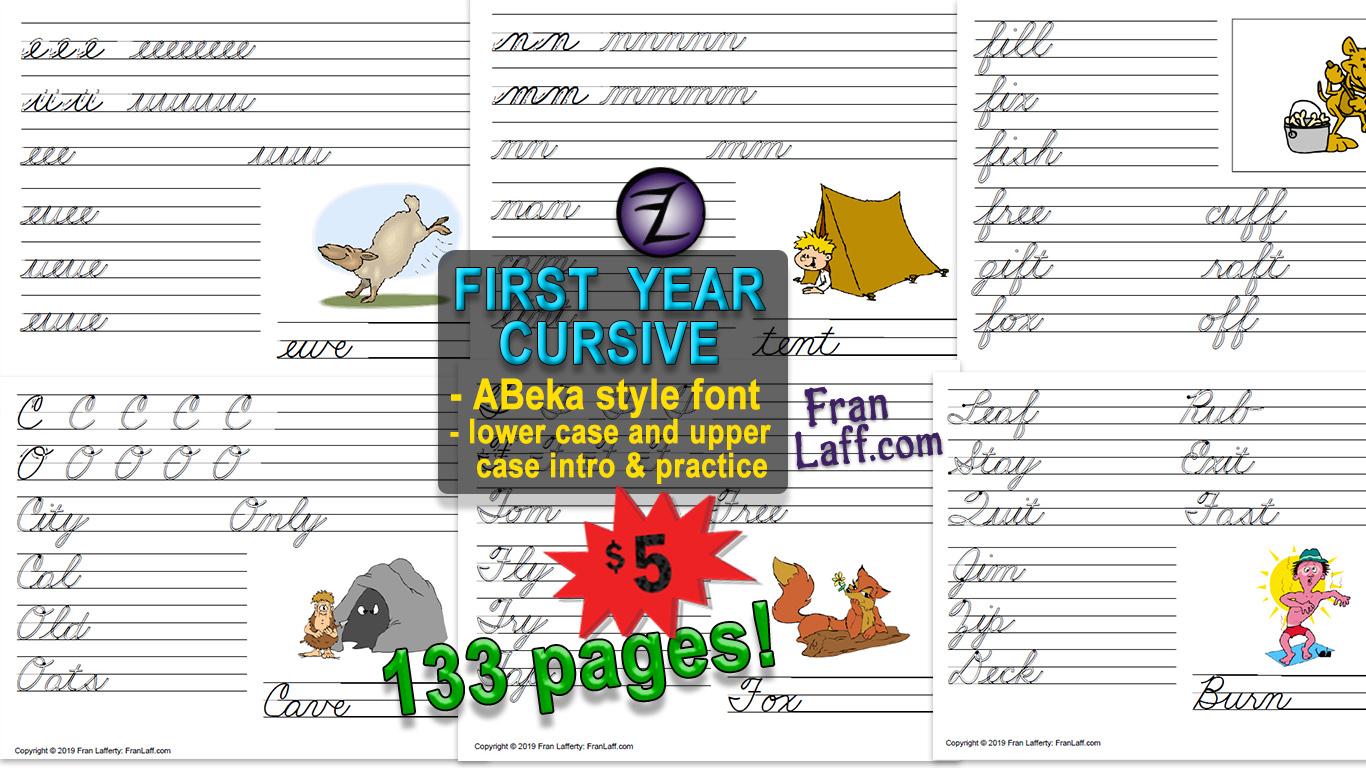 First Year Cursive Abeka Style Font Franlaff