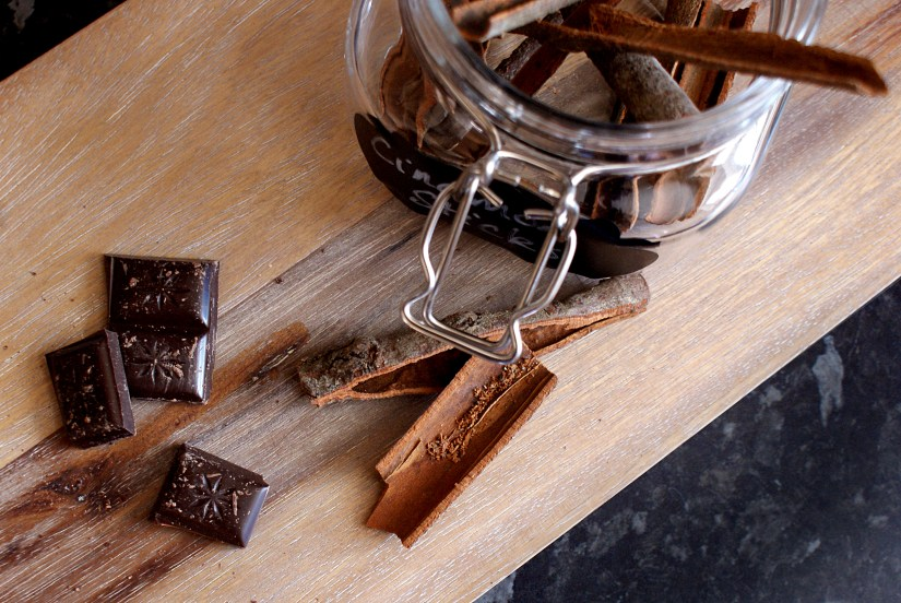 Adding ingredients to a recipe - cinnamon & dark chocolate